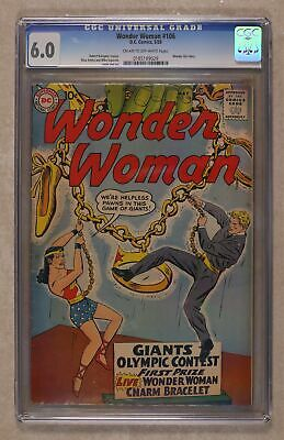 Wonder Woman (1st Series DC) #106 1959 CGC 6.0 0185189029