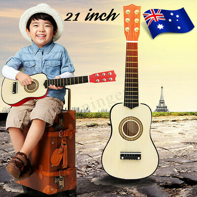 AU 21'' Wood Beginner Acoustic Mini Guitar 6 String Kids Children Music Gift