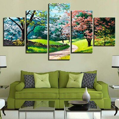 Flower Tree Spring Scenery Painting Canvas Print Wall Art Poster Home Decor