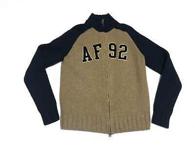 0fa9fd1a abercrombie and fitch mens muscle sweater 70% lambswool AF 92 spell out