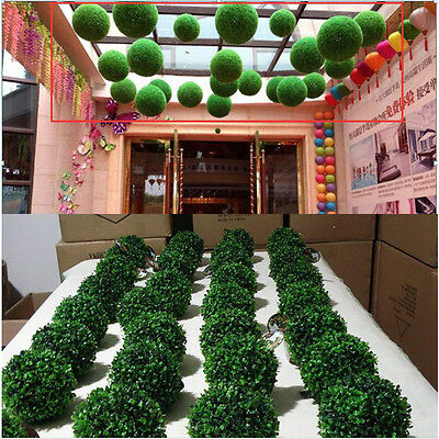 Artificial Green Grass Ball Plant Topiary Hanging Garland Home Garden Decor New