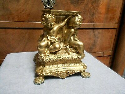 Vintage French gilted metal  Figural Support Tray / Putti, PUTTO
