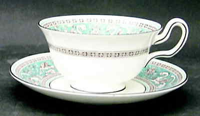 Wedgwood FLORENTINE TURQUOISE Peony Cup & Saucer 6474963