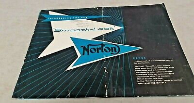 1957 NORTON  Motorcycle Range Original Sales Brochure ES2 etc