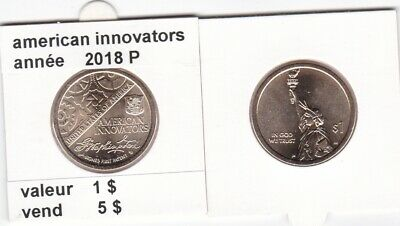 e 3 )pieces de 1 dollar american-innovators   2018  P  voir description