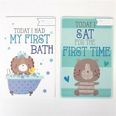 30 Baby's 1St Year Memorable Moments Milestone Cards New Baby Boy / Blue
