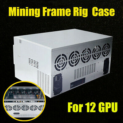 DIY Open Air Mining Crypto Currency Miner Rig Frame Case For 12 GPU ETH Ethereum