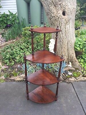 Antique Victorian Cedar 4-Tier 'What Not' Display Stand!