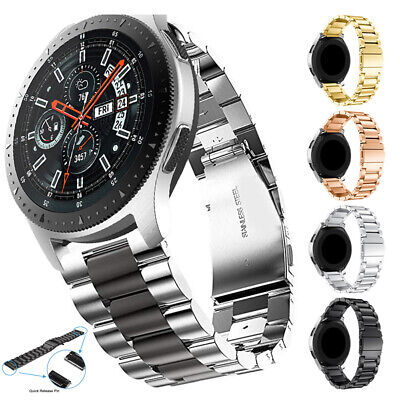 For Samsung Galaxy Watch 42 46mm Gear S3 Strap Stainless Steel Wrist Watch Band