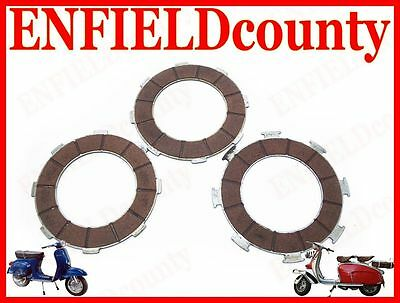 Brand New Vespa Set Of Three Clutch Plates Px 200 T5 Lml Star Deluxe @cad