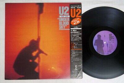 U2 LIVE/UNDER A BLOOD RED SKY ISLAND 20S-192 Japan OBI VINYL LP
