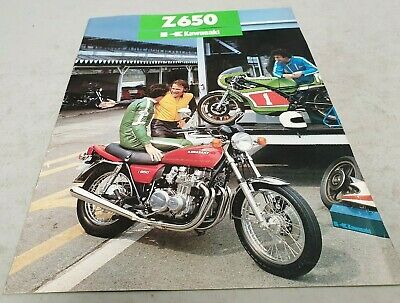 1980 KAWASAKI Z650 Motorcycle  Original Sales Brochure