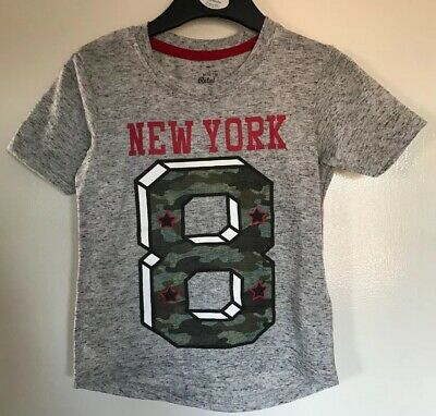 Brand New Primark Baby Boys Grey New York Patterned T Shirt. Age 9-12 Months