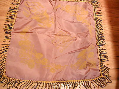 Vintage Wwii Rose Color Souvenir Pillow Cover Usa Fort Sill Ok Sister Verse