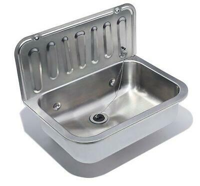 SQUID® S16 UTILITY Cleaning SINK Stainless Steel BASIN Waste Plug WALL MOUNTED