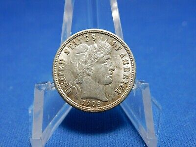 1909 Barber Silver Dime - Uncirculated