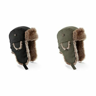 Beechfield Unisex Urban Winter Trapper Hat With Faux Fur Trim (RW4073)