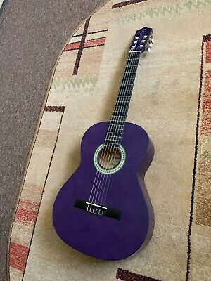 RRP £109 Full Size Classical Acoustic Guitar in Purple gloss finish