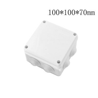 1XPlastic Waterproof Electrical Junction Box 100*100*70mm IP65 With 7 Holes HF