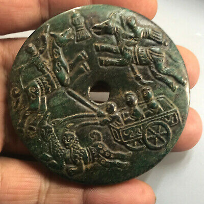 Chinese old natural jade hand-carved statue pendant      189