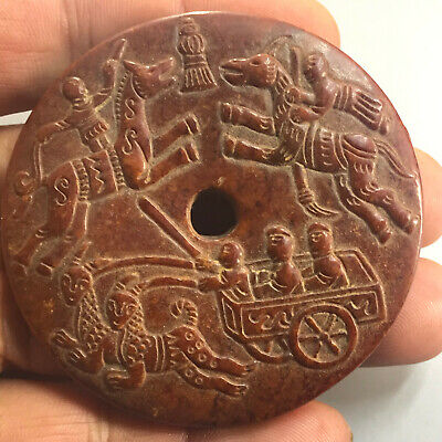 Chinese old natural jade hand-carved statue pendant      191