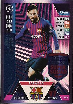 Match Attax Champions League 2018/19 Limited Edition 100 Club Hat Trick Hero Mtm