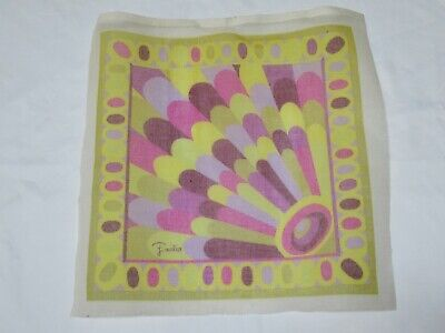 "Emilio Pucci Needlepoint Canvas Only 16"" square for pillow or wall decor"