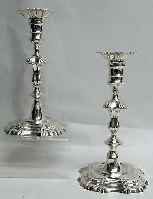 "Classic English 1937 London Sterling Silver 8"" Candlesticks"