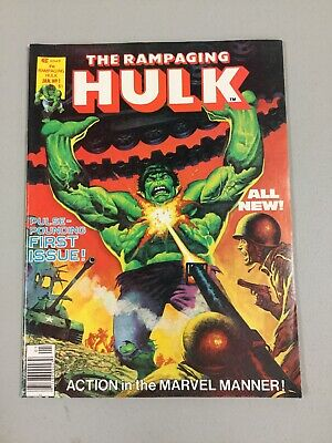 Rampaging Hulk Magazine #1 VF/NM 9.0 Walt Simonson Art