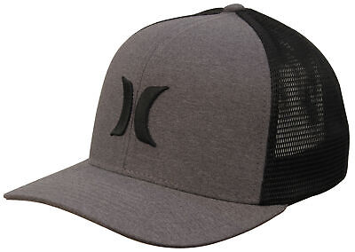 fb2266d965c HURLEY ONE AND Textures Trucker Hat - Black   Black - New -  27.95 ...