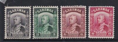 SARAWAK 1941 2c 3c 6c 8c DEFINITIVES COLOUR CHANGES MINT