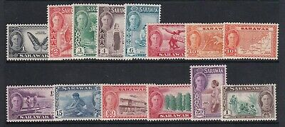 Sarawak 1950 Kgvi Definitive Set To $1 Mint