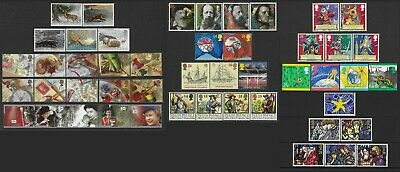 Gb 1992. Complete Year Of 8 Sets Of Commem.stamps+1 Stamp+ 1 Greetings Set. Mnh