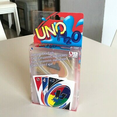 Card game, Uno H2O, Waterproof clear cards.Enjoy together the whole family.