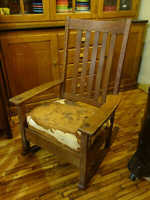 Mission Oak Charles Limbert Rocker Rocking Chair #826 All Original Signed