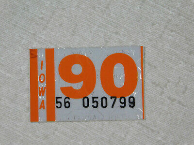 1990 Iowa passenger car license plate sticker