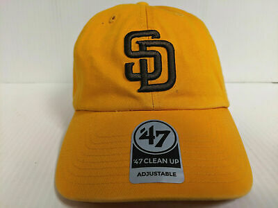 d947ea5987fe7 San Diego Padres Cap 47 Brand Adjustable Strapback Yellow Clean Up Dad Hat  MLB