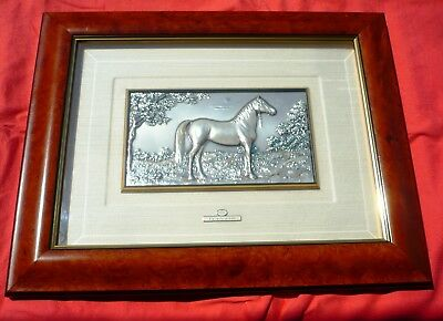 "Quadro Argento cornice in radica Cavallo Arabo ""ACCA Made in Italy"""