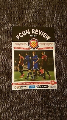 FC United Of Manchester v Stockport County Non-League Football Programme 2017/18