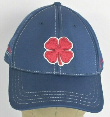3a395e03d BLUE GREEN ND Irish clover embroidered baseball hat cap fitted ...