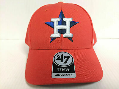 db3b62ec111 47 BRAND HOUSTON Astros H Adjustable Clean Up Dad Hat Cap Core MVP ...