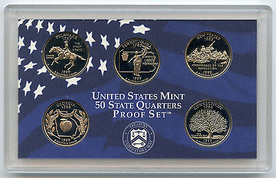 1999 State Quarter Proof Coin Set - United States Mint - Official & Authentic