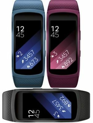 Samsung Gear Fit2 Fitness Band, Heart Monitor Smartwatch, R360-black