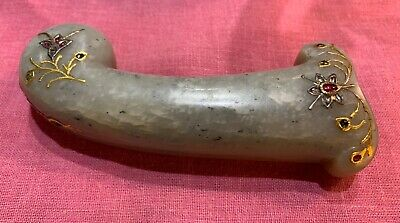 Rare Antique Mughal Pale Green Jade Khanjar Hilt - Heavy , 11.065 Ounces