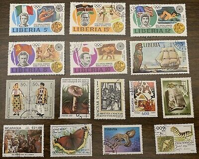 [Lot 323] 50 Different Used Large/Commemorative Worldwide Stamp Collection
