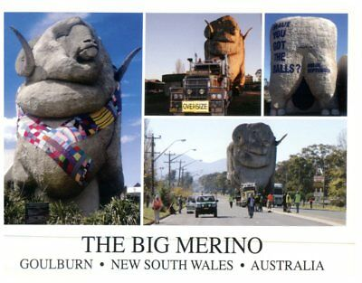 (Del 1) Postcard Australia - Big Things - NSW Goulburn Big Merino Sheep