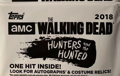 2018 TOPPS WALKING DEAD HUNTERS & THE HUNTED HOT PACK RELiC OR AUTO RELIC 100%