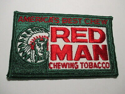 Red Man Chewing Tobacco Vintage Original, NOS, Patch 4 3/4 x 3 inches