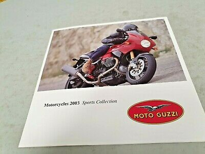 2003 MOTO GUZZI SPORTS Motorcycle Australian Sales Brochure V11 CAFE Breva etc
