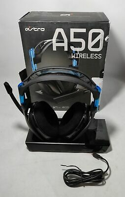 ASTRO Gaming A50 Wireless Dolby Gaming Headset (Black/Blue) PS4 + PC